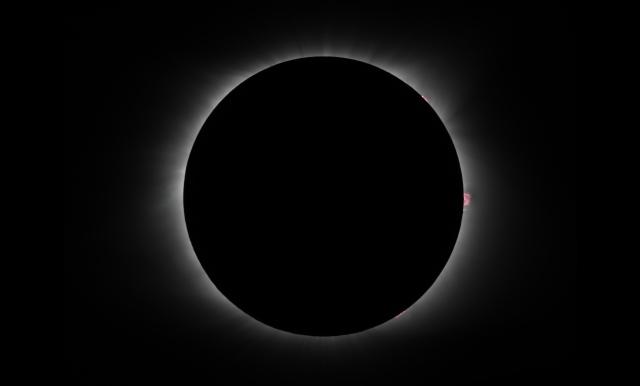 solar eclipse 2017.08.21 totality short exposure 1800 mm fl